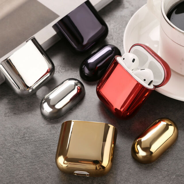 Plating Hard Cover Skin For Apple AirPods Charging Case AirPod Protective Shell