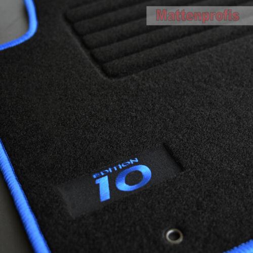 Mattenprofi Logo Velours Fußmatten für Hyundai i10 ab Bj.12//2007-2013 blau