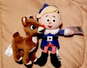Rudolph /& Hermie The  Elf BRAND NEW Rudolph The Red Nosed Reindeer Plush  LOT
