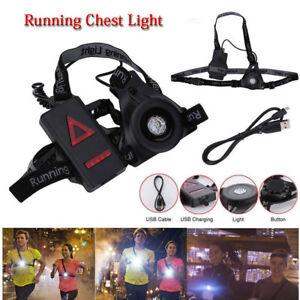 Running-Light-Ricaricabile-batteria-USB-Impermeabile-LED-Lampada-Corsa-Petto-Nuo