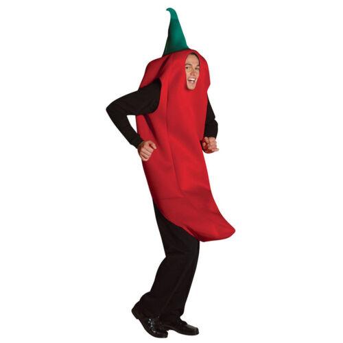 Red Hot Chili Pepper Adulte Costume cinco de mayo Déguisement mascotte de la nourriture mexicaine