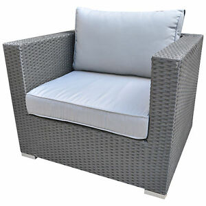 Luxus gartenm bel polyrattan lounge sessel sofa rattan for Lounge sessel polyrattan