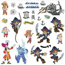 Disney Jr. CAPTAIN JAKE and the NEVERLAND PIRATES wall stickers 27 decals Hook