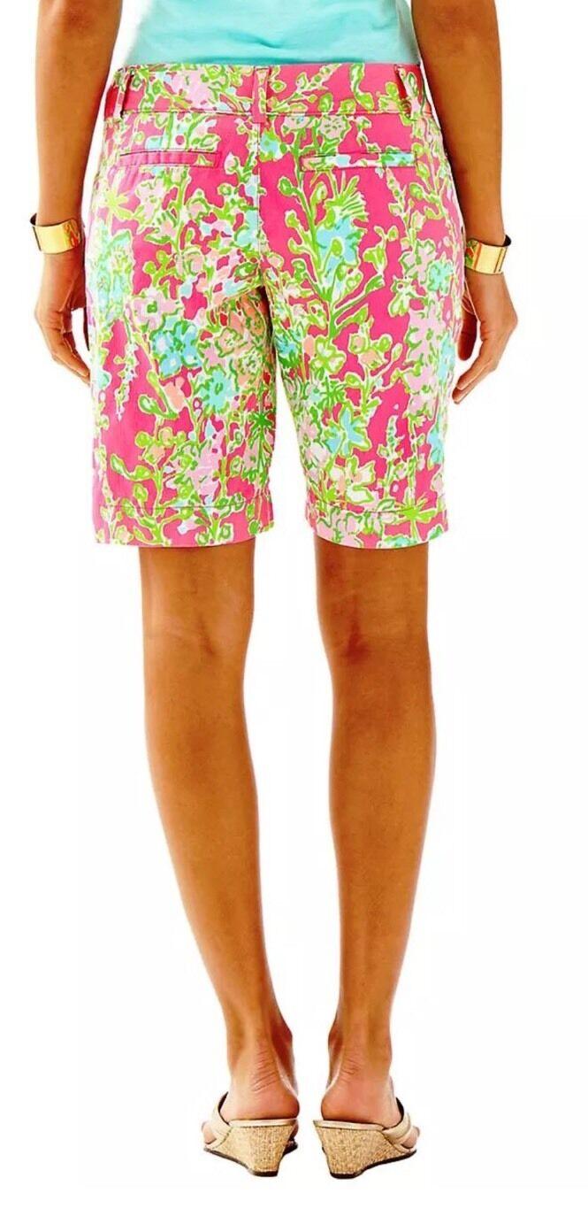 NWT  Lilly Pulitzer Southern Comfort Flamingo Pin Woman Shorts SZ 00