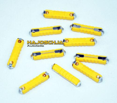 10x  Sicherung  5A  gelb Torpedosicherung 6x25mm  ATS Bosch Tonnensicherung 5 A