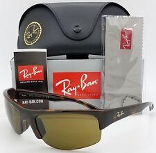 4de02c21ce3 NEW Rayban Sunglasses RB4173 710 73 Tortoise Brown RB 4173 AUTHENTIC Sport  Wrap