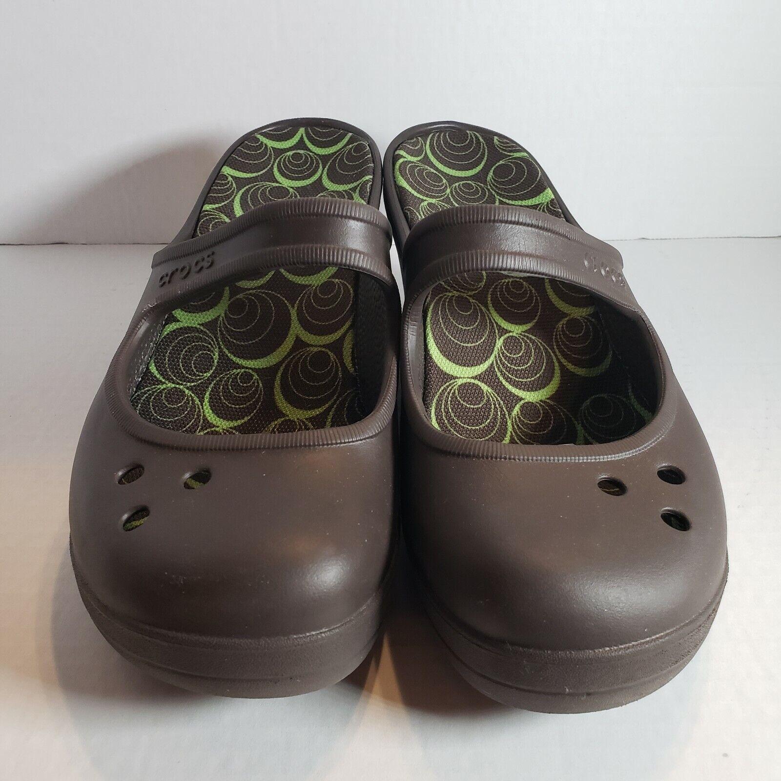 Crocs Frances Mary Jane Wedge Heel Clogs Size 9
