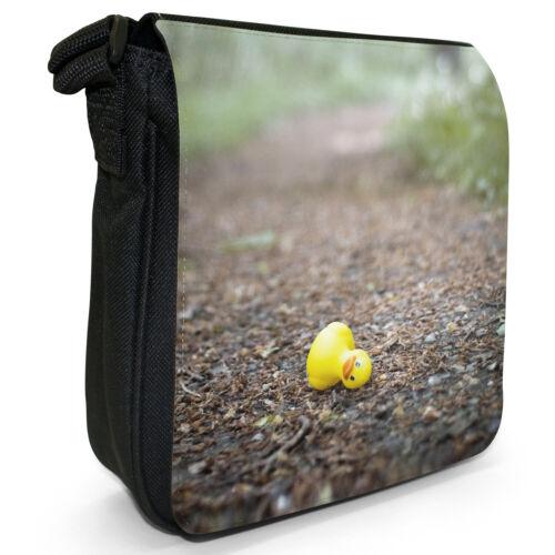 Rubber Ducks Bubble Bath Kids Toy Small Black Canvas Shoulder Bag
