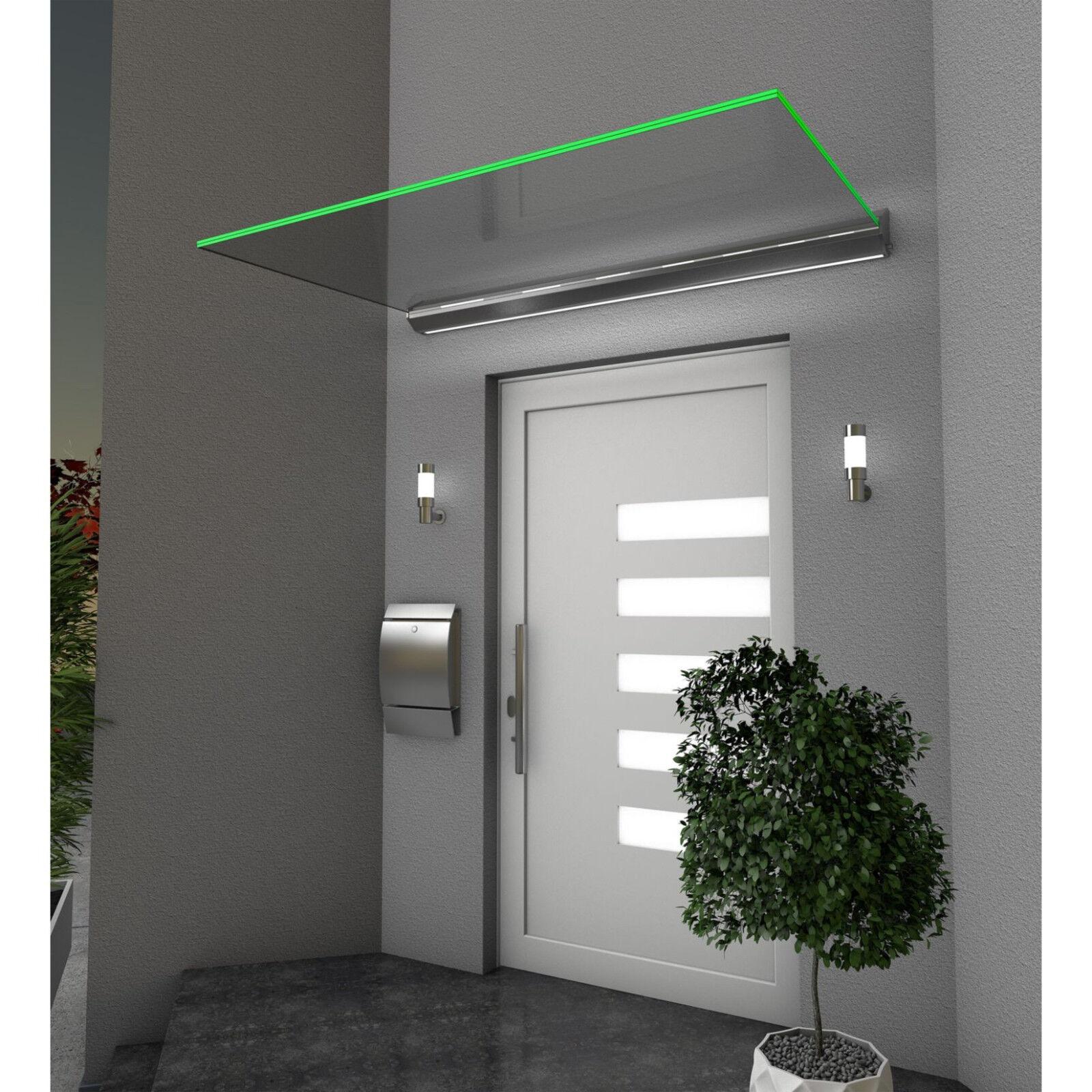 Gutta Echtglasvordach HD/LED Haustürvordach 160 x 100 x 13,5 cm (LxTxH)