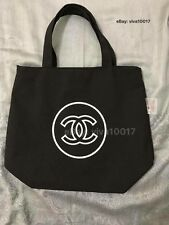 New Auth Chanel Beauté Black & White Canvas Makeup Tote Bag VIP Gift