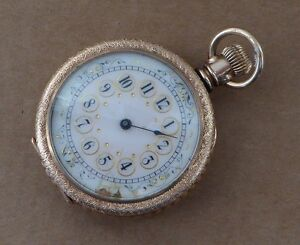 An excellent Waltham fob pocket watch for repair prairie house scenededication - <span itemprop=availableAtOrFrom>Swindon, United Kingdom</span> - If you need to return an item, please use the return address on the invoice. Please also send an email through the ebay email system to confirm your intentions. - Swindon, United Kingdom