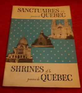 Vintage-Sanctuaires-Shrines-Quebec-Province-Canada-French-English