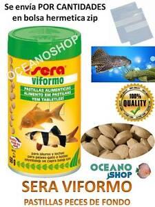 Comida peces pastillas de fondo sera viformo acuario para for Alimentacion para peces de acuario