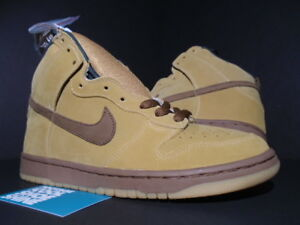 cb3b9f0f 2002 NIKE DUNK HIGH PRO SB MAPLE WHEAT BISON GUM BROWN REESE FORBES ...
