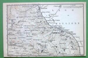 1899 Map Original Baedeker Italy Lago Maggiore Stresa Pallanza
