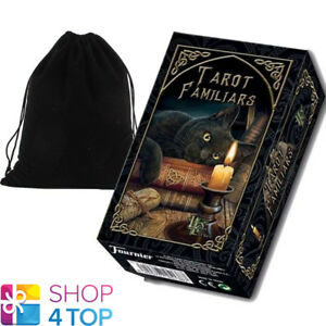LISA-PARKER-FAMILIARS-TAROT-DECK-CARDS-TELLING-FOURNIER-WITH-VELVET-BAG-NEW