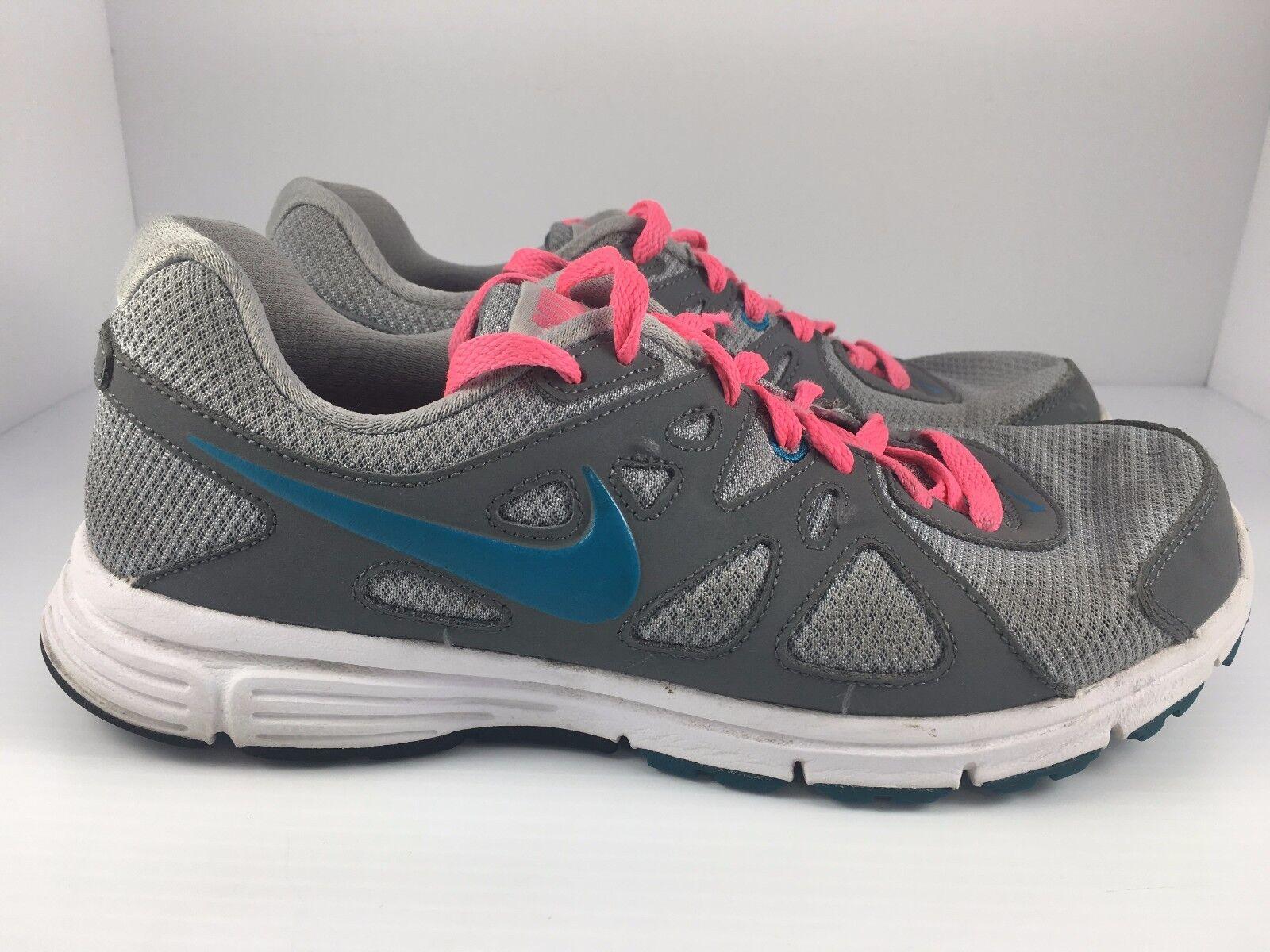Nike rivoluzione 2 donne noi 9 grigio bianco e blu   atletica scarpette rosa | Nuovo 2019  | Uomini/Donna Scarpa