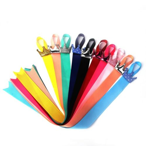 10Pcs Baby Kids Girls Crown Ribbon Hair Bow Hair Clip Holder Storage Organizer