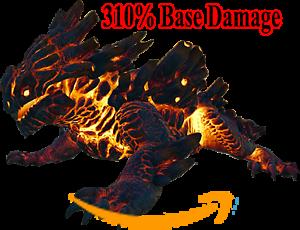 Ark-Survival-Evolved-PC-PVE-NEW-MAGMASAUR-378-Damage-100-Imprinted