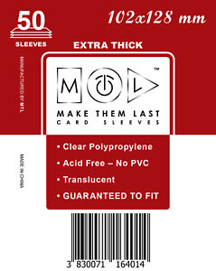 MTL Maniche carta spessa osde: Taglia 102x128 50pcs prefetto adatto per discesa 2