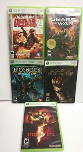 Xbox-360-Game-Lot-Rainbow-6-Gears-of-War-Bioshock-Dead-Space-Resident-Evil