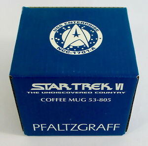 Rare-1993-STAR-TREK-VI-Pfaltzgraff-COLLECTOR-COFFEE-MUG-Undiscovered-Country