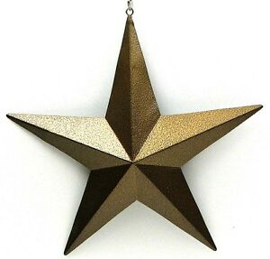 Image Is Loading New 3 034 Rustic Farmhouse Gold Metal Star