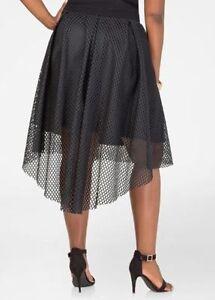 SeXy-Black-Skirt-HI-LOW-Bi-HEM-Gothic-Glam-FISHNET-MESH-20-1x-2x-PLUS-SIZE-22-24