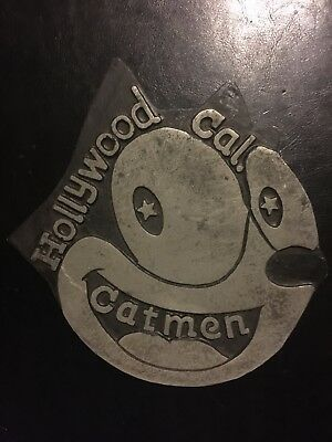 Felix Kitty Cat Sign Plaque Solid Metal Antique Style Patina Paint Finish Auto G