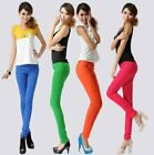 Women Lady Candy Color Stretch Pencil Pants Casual Slim Skinny Jeans Trouser Hot