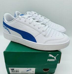 PUMA-Men-039-s-Ralph-Sampson-Sneakers-White-amp-Palace-Blue-US-7-5-EUR-40