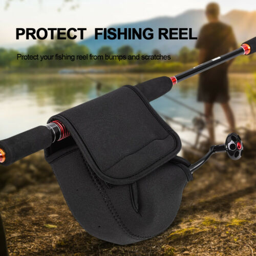 SBR Fishing Spinning Reel Portable Storage Bag Protective Case Cover Pouch BS