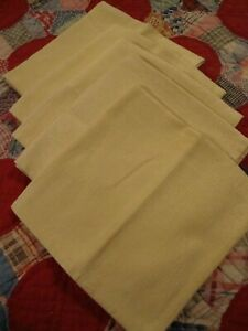 Vintage-Gold-Holiday-Retro-Linen-Napkins-Set-5pc-Dinning-Decor-17-5-034-Square-237