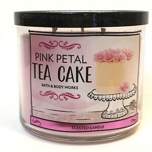 1-BATH-amp-BODY-WORKS-PINK-PETAL-TEA-CAKE-SCENTED-3-WICK-14-5-OZ-LARGE-CANDLE-NEW