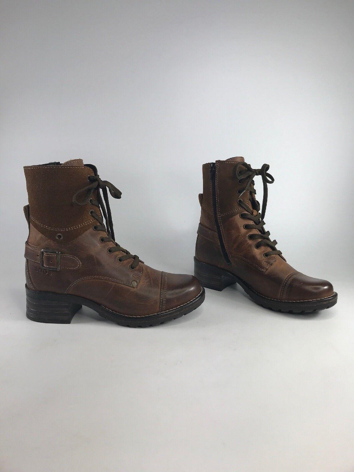 Taos para mujer botas de Combate de Cuero anhelan-Marrón anhelan-Marrón anhelan-Marrón   Nuevo Con Caja Talla 6-6.5 EUR 37 US d6d7c2
