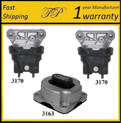 3 PCS FRONT MOTOR /& TRANS MOUNT FOR 2006-2010 Dodge Charger 2.7L /& 3.5L 2WD
