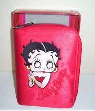 Betty Boop Red Wallet Organizer 2 Zipper Weekly Monthly Openings Tabs