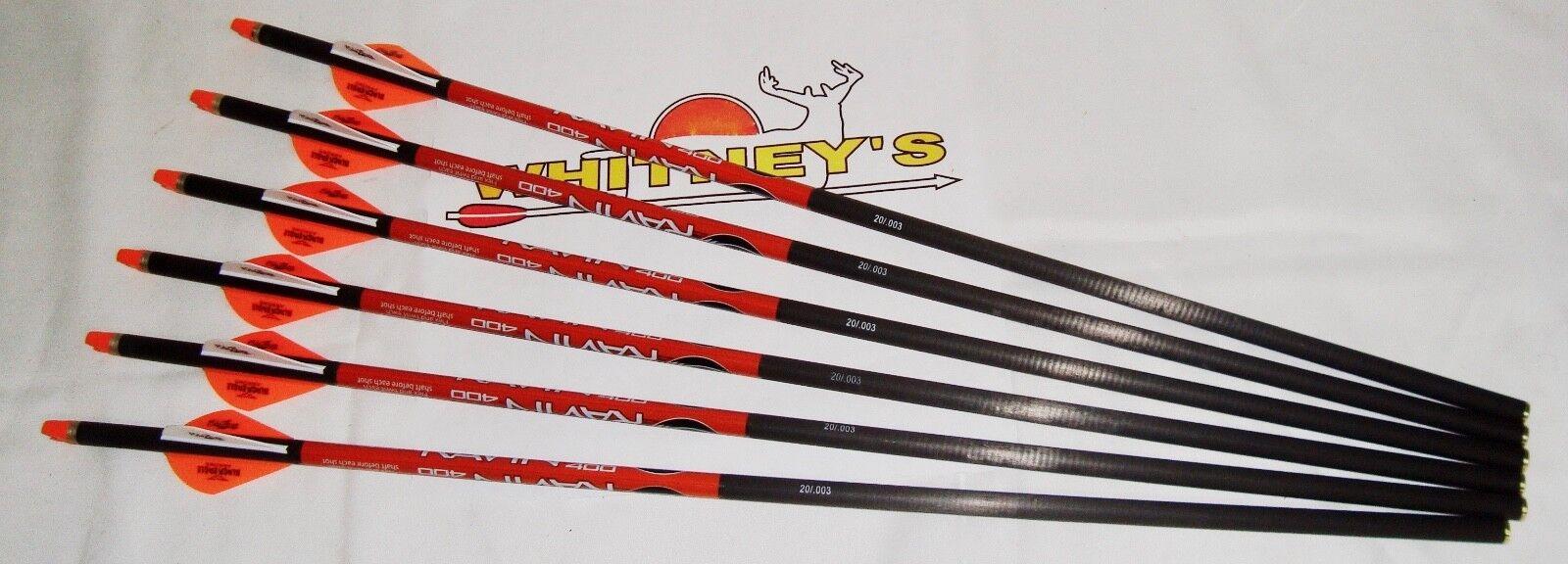Barranco Ballesta Xbow Tornillos Flechas 400 grano 6PK R138  .003  Envío rápido y el mejor servicio