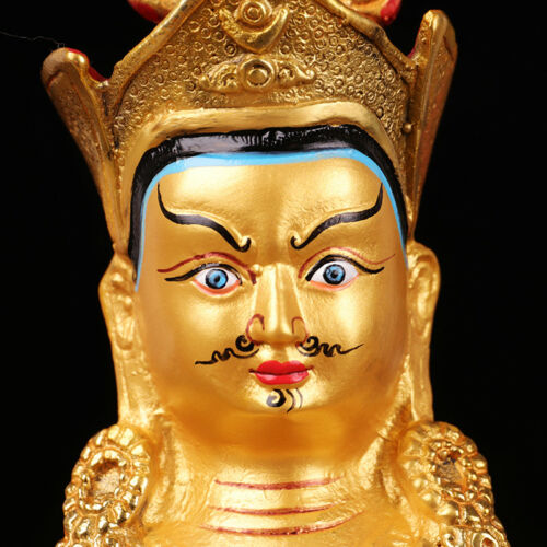 "7/"" Antique Tibetan Buddhism copper gilt hand made Padmasambhava statue"