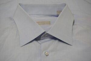 Stefano-Ricci-Light-Baby-Blue-Spread-Collar-100-Cotton-Dress-Shirt-Sz-17-5