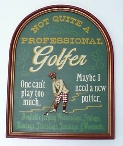 Golfer/'s wall plaque