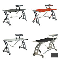 Pitstop Furniture Gt Spoiler Glass Automotive Gaming Car Office Desk Workstation