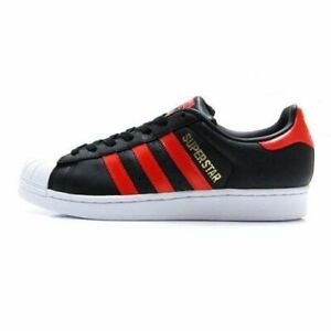 best loved 37966 96e80 Details about Adidas Originals Superstar Mens Casual Skate Shoes Black &  Red - Size 10