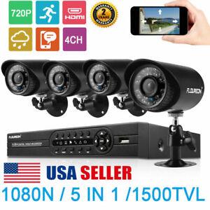 FLOUREON-4CH-1080P-DVR-CCTV-Home-Security-IP-Camera-System-IR-Night-Vision-Kit
