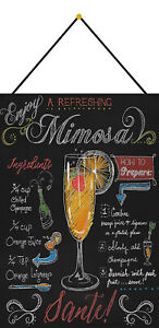 Mimosa-Cocktail-Recipe-Recette-Plaque-Avec-Corde-Metal-Etain-Signer-20-X-30-CM