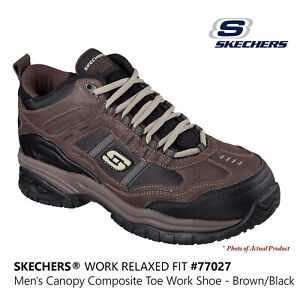Skechers Men's Work Relaxed Fit Brown