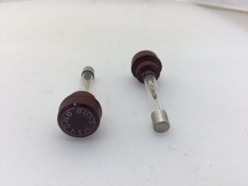 1.25A 300vac Time Delay 5 pcs GMQ-1-1//4 Bussmann Glass Fuse and Knob Combo