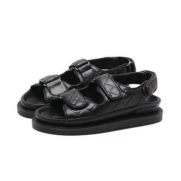 Sandali eleganti bassi  ciabatte nero 1105 platform comodi simil pelle 1105 nero da8640