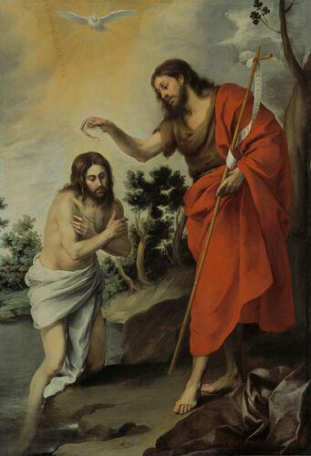 The Baptism of Christ Murillo Bartolome Esteban Giclee Canvas Print