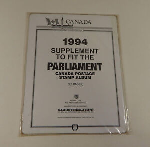 Canadian Wholesale Supply Parliament Canada Stamp Album Supplement